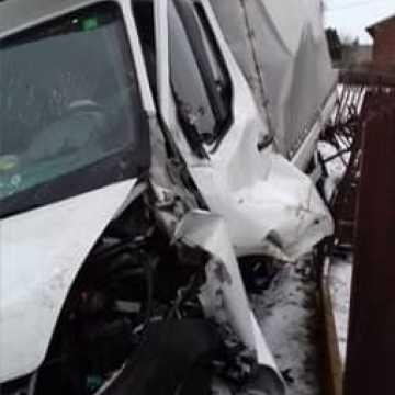 Strażak ochotnik ratował poszkodowanego w wypadku