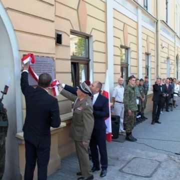 Odsłonięcie tablicy poświęconej żołnierzom KWP