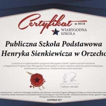 Wiarygodna szkoła w Orzechowie