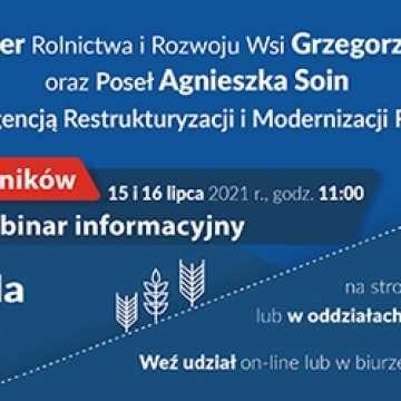 O pomocy dla rolników - ogólnopolski webinar już w połowie lipca