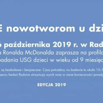 Fundacja Ronalda McDonalda przeprowadzi bezpłatne badania USG w Radomsku