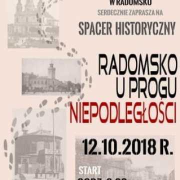 """Spacer historyczny """"Radomsko u progu niepodległości"""""""