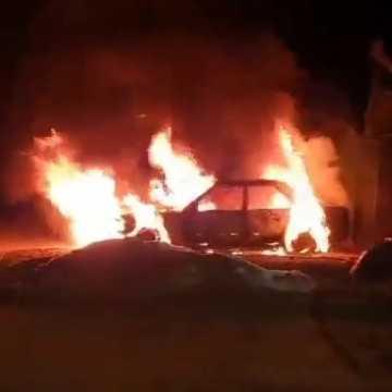 W Radomsku spłonął samochód