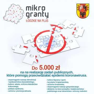 Ruszył nabór wniosków Wojewódzkiego Programu Mikrograntów na rzecz walki z COVID-19