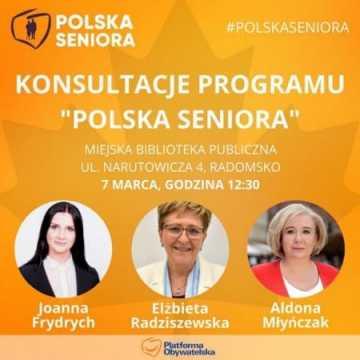 Konsultacje programu Polska Seniora w Radomsku