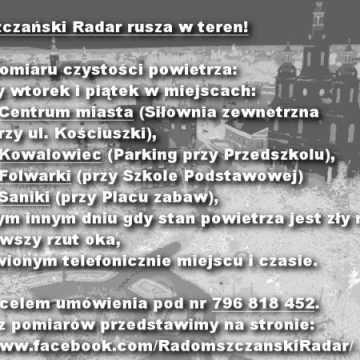Radomszczański Radar zbada jakość powietrza