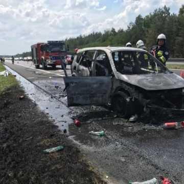 Pożar samochodu na DK1