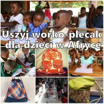 Uszyj worko-plecak dla dzieci w Afryce