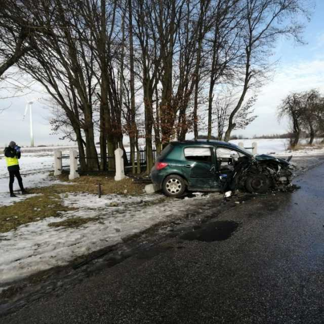 Wypadek w gminie Gidle. Kierowca był pijany. Jedna osoba trafiła do szpitala