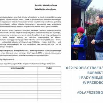 Petycja z 622 podpisami trafiła do burmistrza i do Rady Miejskiej w Przedborzu