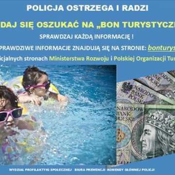 """Policja ostrzega: Nie daj się oszukać metodą """"Na Bon Turystyczny"""""""
