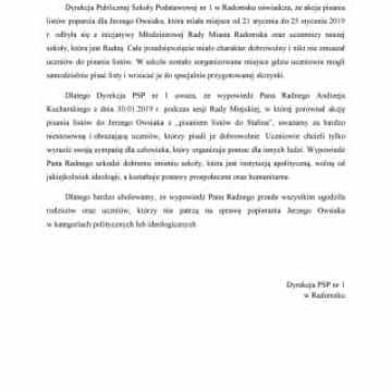 Dyrekcja PSP nr 1: Słowa radnego obrażają uczniów