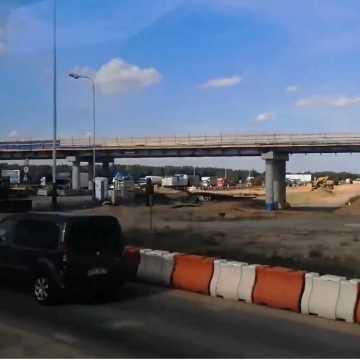 Postęp prac na węźle autostradowym w Kamieńsku