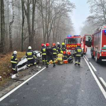Wypadek w gminie Masłowice. Jedna osoba ranna. Są utrudnienia