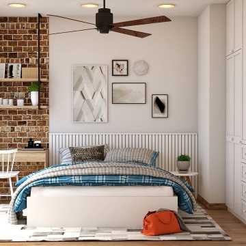 Piękna sypialnia w stylu skandynawskim