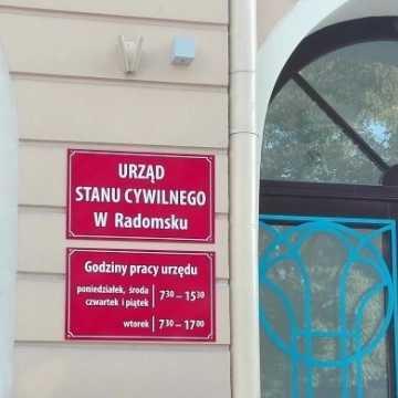 Zmiana godzin pracy USC w Radomsku