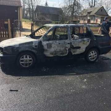 Spłonął volkswagen