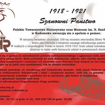 Towarzystwo Historyczne z Radomska apeluje