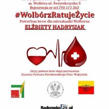 Krew ratuje życie. Akcja zbiórki krwi dla mieszkanki Wolborza Elżbiety Hadrysiak