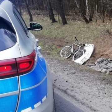 Potrącony w Kolonii Borowiecko rowerzysta nie żyje
