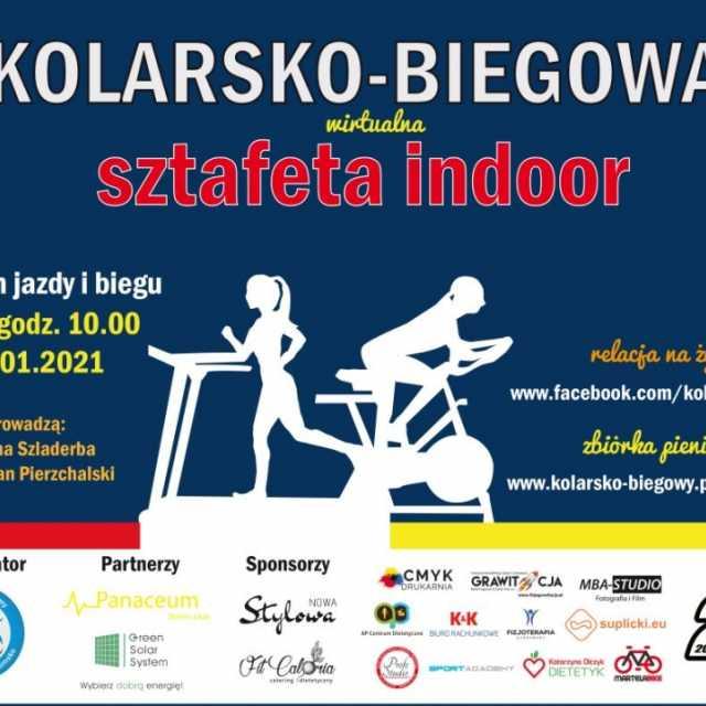 Kolarsko-Biegowa Sztafeta Indoor w Radomsko dla WOŚP