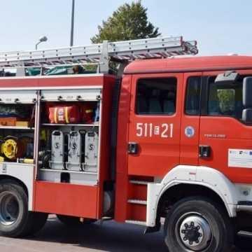 Pożar ciągnika na Brzeźnickiej w Radomsku