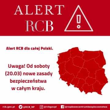 Alert RCB: nowe zasady bezpieczeństwa w całym kraju
