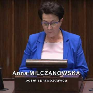 Poseł Milczanowska sprawozdawcą kontrowersyjnej tzw. ustawy covidowej