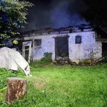 Spłonęła obora w miejscowości Gaj
