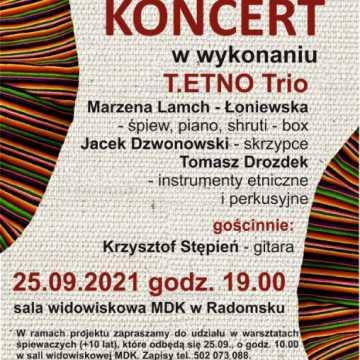 Zapomniane pieśni Ziemi Radomszczańskiej będą rozbrzmiewać w MDK w Radomsku