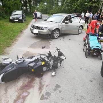 Karczów: nie ustąpiła pierwszeństwa, uderzyła w motocykl