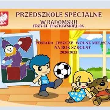 Wolne miejsca w przedszkolu specjalnym w Radomsku na rok szkolny 2020/21
