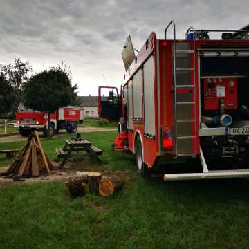 Pożar w gospodarstwie agroturystycznym w Napoleonowie