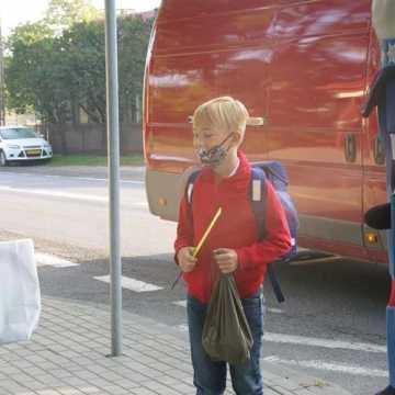 Przypominali, jak bezpiecznie dotrzeć do szkoły