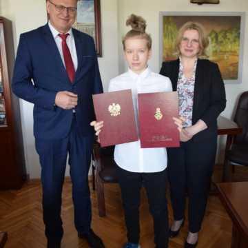 Natalia Dudek otrzymała dyplom Ministra Edukacji Narodowej