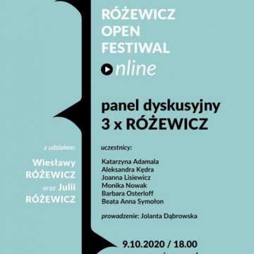 """Różewicz Open Festiwal Online - Panel """"3 x Różewicz"""""""