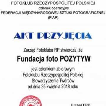 FotoPozytyw dołączył do Fotoklubu Rzeczypospolitej Polskiej