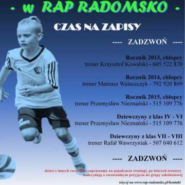 RAP Radomsko zaprasza na treningi