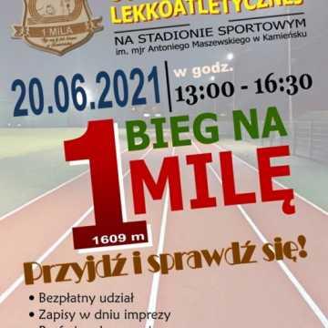 Bieg na 1 milę przy okazji otwarcia bieżni w Kamieńsku