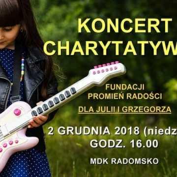 Koncert charytatywny Fundacji Promień Radości dla Julii i Grzegorza