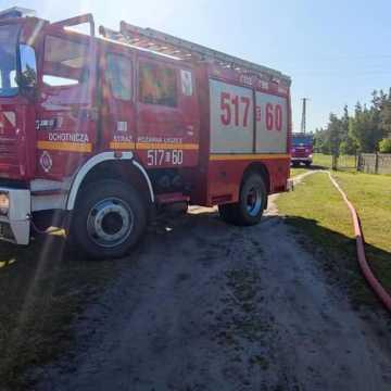 Pożar poddasza w domu w Radziechowicach Drugich