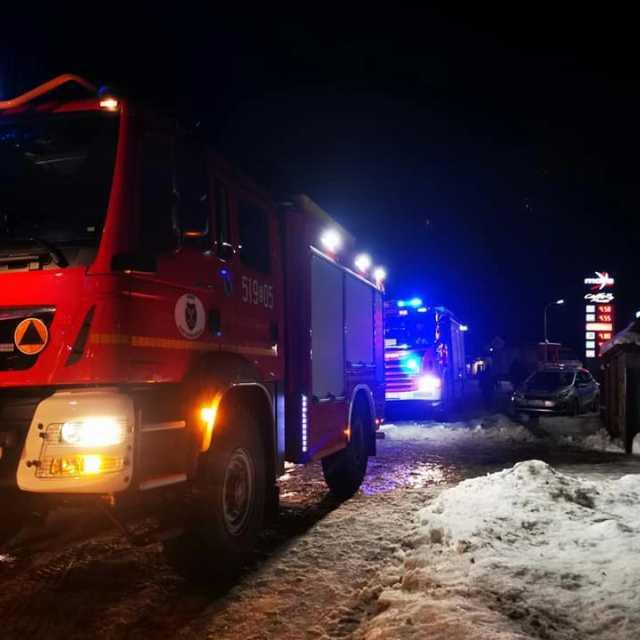 Pożar sadzy w przewodzie kominowym w domu w Kamieńsku