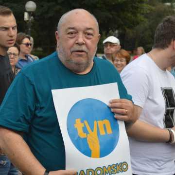 W obronie niezależnych mediów. Protest w Radomsku