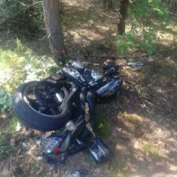 Zderzenie motocykli z osobówką na drodze Karsy - Rędziny