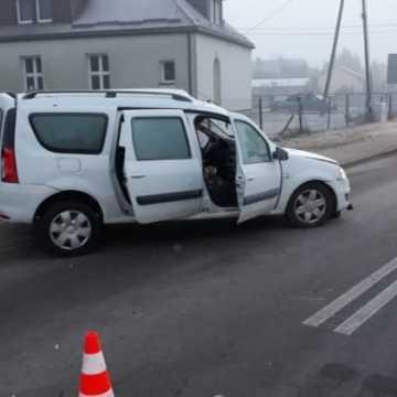 Wypadek w Krzywanicach. Ranny mężczyzna