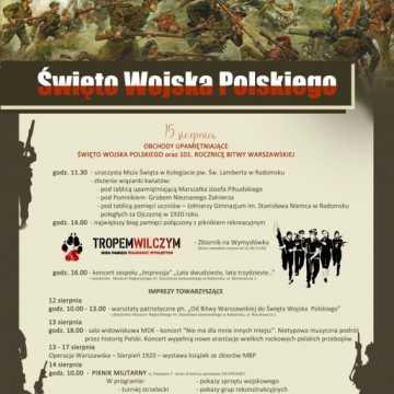 Program obchodów Święta Wojska Polskiego w Radomsku