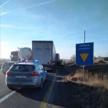Trzy ciężarówki zderzyły się koło Radomska