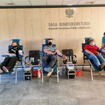 Prawie 21 litrów krwi dla komendanta policji w Radomsku