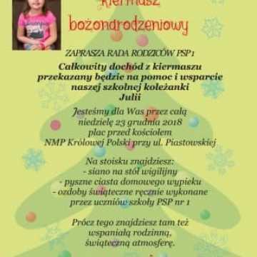 Kiermasz świąteczny dla Julii