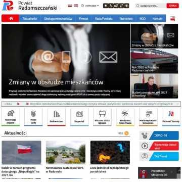 Strona radomszczańskiego starostwa w nowej odsłonie